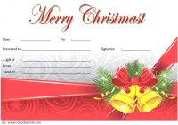Merry Christmast Gift Certificate Template 2