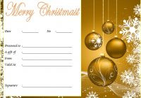 Merry Christmast Gift Certificate Template 3