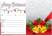 Merry Christmast Gift Certificate Template 4