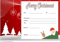 Merry Christmast Gift Certificate Template 5