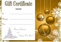 Merry Christmast Gift Certificate Template 6