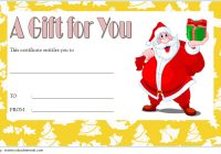Merry Christmast Gift Certificate Template 7
