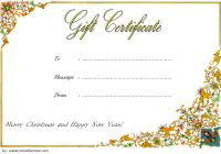 Merry Christmast Gift Certificate Template 8