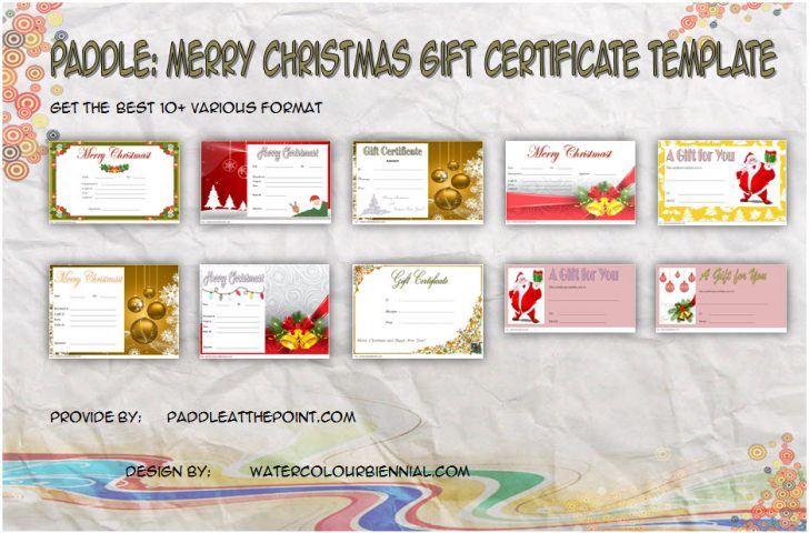 Permalink to Merry Christmas Gift Certificate Templates (10+ Best Ideas)
