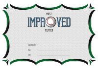Most Improved Player Certificate Template 2