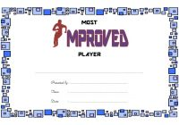 Most Improved Player Certificate Template 3