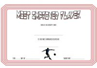 Most Improved Player Certificate Template 6
