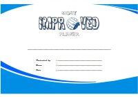 Most Improved Player Certificate Template 7