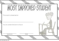 Most Improved Student Certificate Template 8