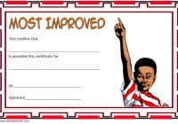 Most Improved Student Certificate Template 9