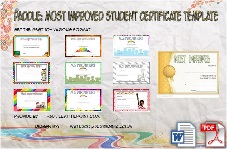 Permalink to Most Improved Student Certificate Printable – 10+ Best Ideas