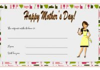 Mother's Day Gift Certificate Template 2