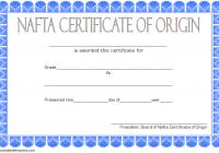 Nafta Certificate of Origin Template 1
