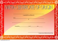 Nafta Certificate of Origin Template 2