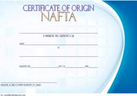Nafta Certificate of Origin Template 3