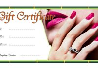 Nail Salon Gift Certificate 1