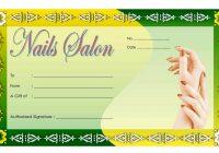 Nail Salon Gift Certificate 3