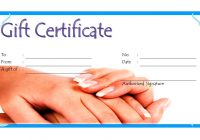 Nail Salon Gift Certificate 6