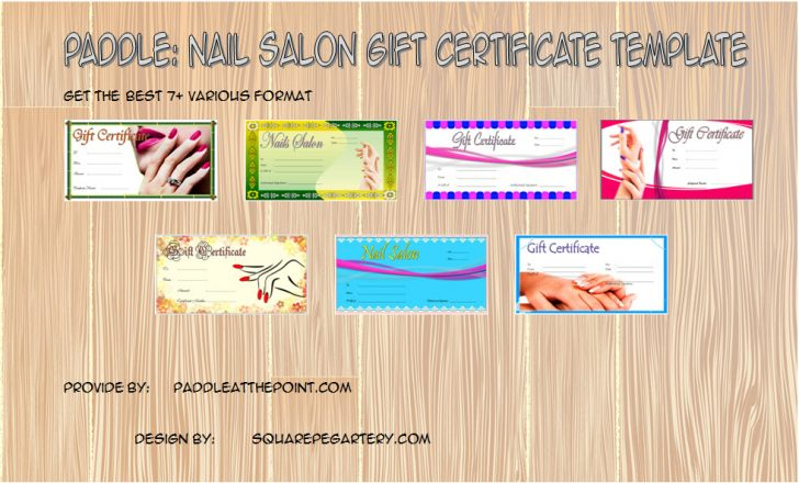Permalink to Nail Salon Gift Certificate Template