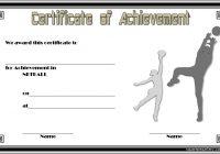 Netball Achievement Certificate Template 1