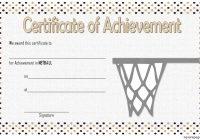 Netball Achievement Certificate Template 3