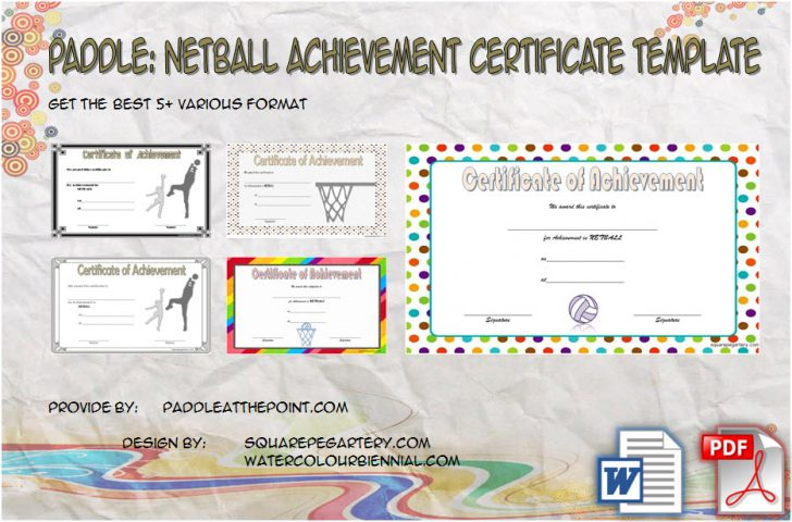 Permalink to Netball Achievement Certificate Template – 7+ Latest Designs