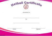 Netball Certificate Template 1