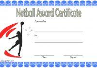 Netball Certificate Template 10