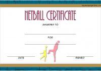 Netball Certificate Template 2
