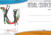 Netball Certificate Template 3
