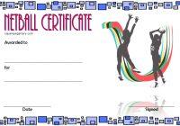 Netball Certificate Template 4
