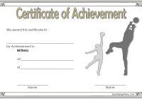 Netball Certificate Template 6