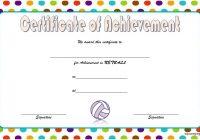 Netball Certificate Template 8