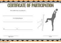 Netball Participation Certificate Template 1