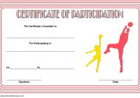 Netball Participation Certificate Template 2