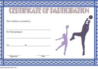 Netball Participation Certificate Template 3
