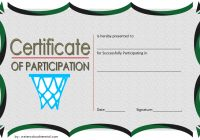 Netball Participation Certificate Template 4
