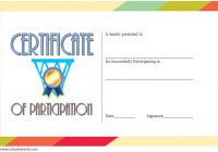 Netball Participation Certificate Template 5