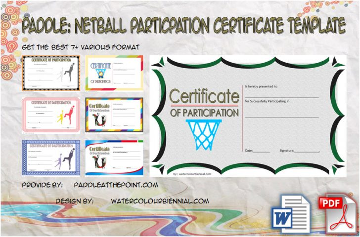 Permalink to Netball Participation Certificate Templates – 7+ New Designs