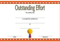Outstanding Effort Certificate 1