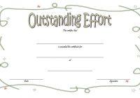 Outstanding Effort Certificate 2