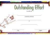Outstanding Effort Certificate 3