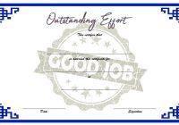 Outstanding Effort Certificate