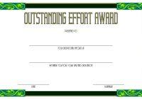 Outstanding Effort Certificate 4