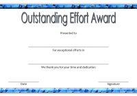 Outstanding Effort Certificate 5