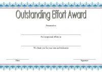 Outstanding Effort Certificate 6