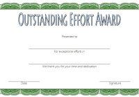 Outstanding Effort Certificate 7