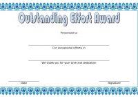 Outstanding Effort Certificate 8