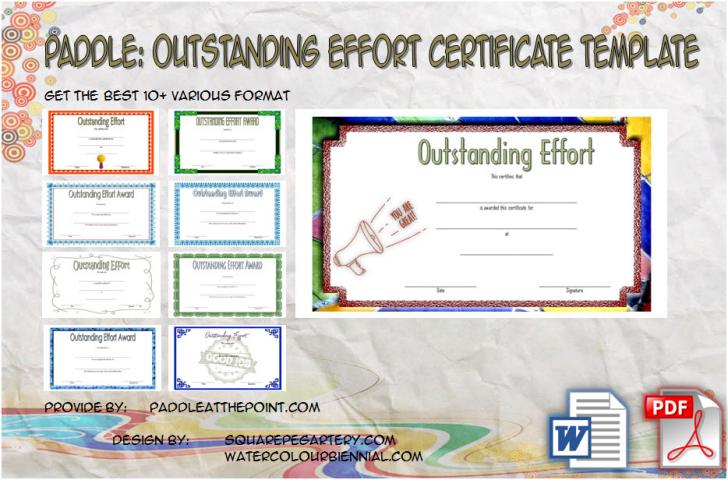 Permalink to Outstanding Effort Certificate Template