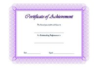 Outstanding Performance Template 3